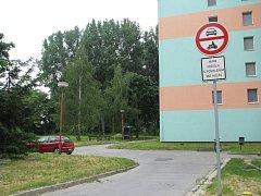 Někteří řidiči parkují na sídlišti Družba v místech, která nejsou pro parkování určena a můžou způsobit komplikace napříkald sanitkám, nebo hasičským vozům.