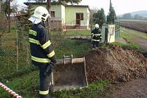 Únik plynu v Šelešovicích.