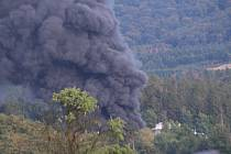 Požár v Čepro Loukov