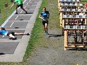 Závodníci BK Trefa na letním biatlonu v Bystřici pod Hostýnem.