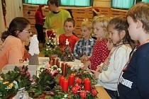 Ve středisku volného času TyMy připravili pro děti základních a mateřských škol adventní program s dílničkami.