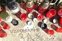 K uctění památky zesnulé doktorky veterinární medicíny Blanky Miholové zapálili studenti a pedagogové před školou svíce.