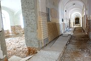 Průběh rekonstrukce Arcibiskupského gymnázia v Kroměříži.