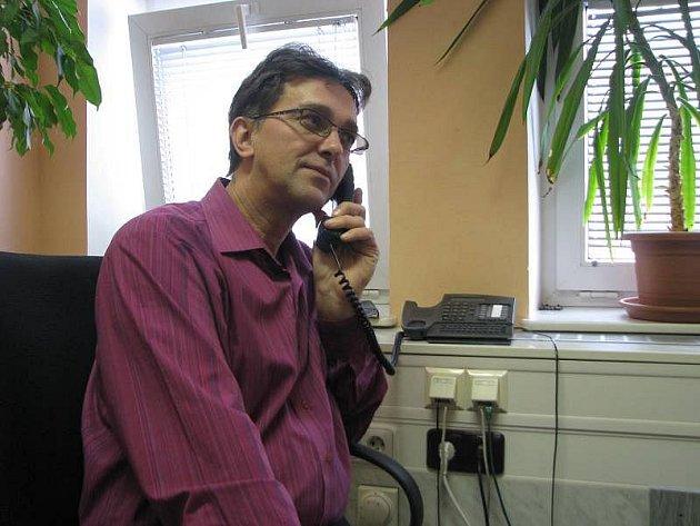 Vladimír Chlubný se u kroměřížské policie zabývá informační kriminalitou.
