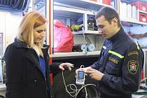 Lidé měli možnost v rámci dne otevřených dveří navštívit také hasičskou stanici v Holešově