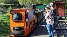 Podzimní poježdění na unikátní Rajnochovické lesní železnici opět přilákalo stovky lidí, 17.-18. 10. 2021