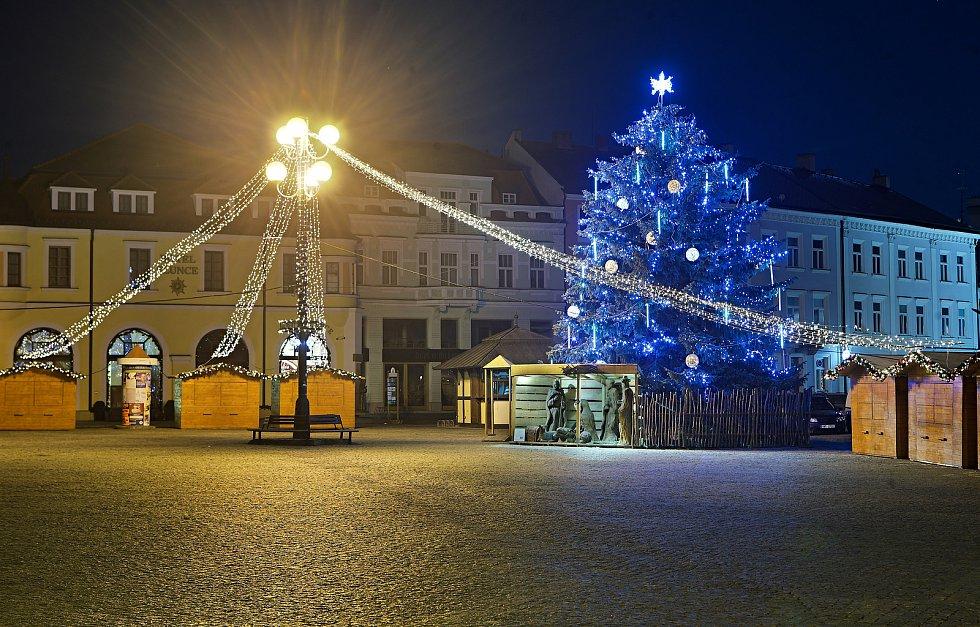 Vánoční strom v Uherském Hradišti.