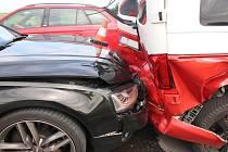 Dopravní nehoda se stala mezi obcemi Troubky-Zdislavice a Zářičí.