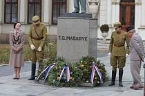 Vedení města Kroměříž spolu s občany uctili památku T.G. Masaryka, ale hlavně si připoměli 98. výročí vzniku samostatného Československé republiky.