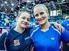 Stolní tenistku Hanu Matelovou (vlevo) se Slovenkou Barborou Balážovou čeká v Astaně velké premiéra na Grand Finals.
