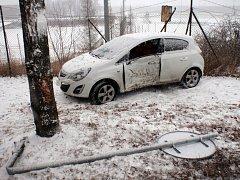 Dopravní nehoda v Kroměříži na ulici Kotojedská