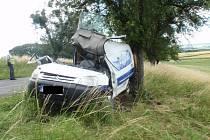Dopravní nehoda dodávky v obci Sovadina.