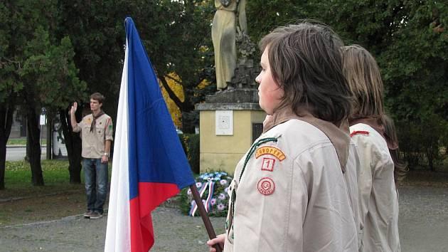 Na vznik samostaného československého státu zavzpomínali s předstihem 27. října 2011 treba v Chropyni.