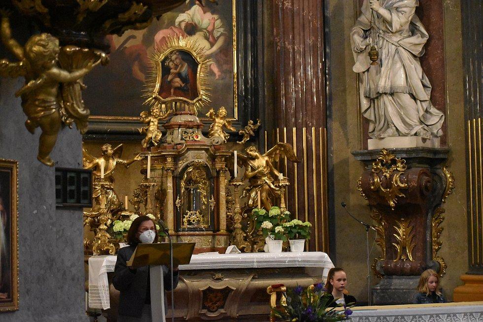 Noc kostelů - Kostel sv. Jana Křtitele v Kroměříži.