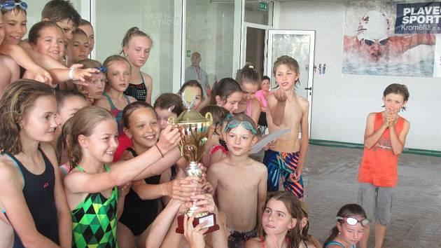 Plavecká soutěž o putovní pohár Sportovních zařízení města Kroměříže