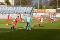 Fotbalisté Kroměříže v pátek odpoledne sehráli 10. kolo MSFL na půdě Znojma.