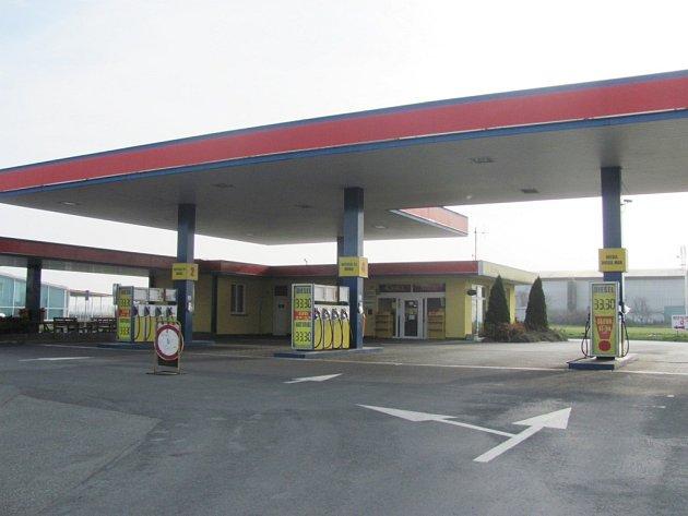 Čerpací stanice v Břestu. Ilustrační foto.