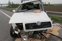 Mladého řidiče přemohl mikrospánek.