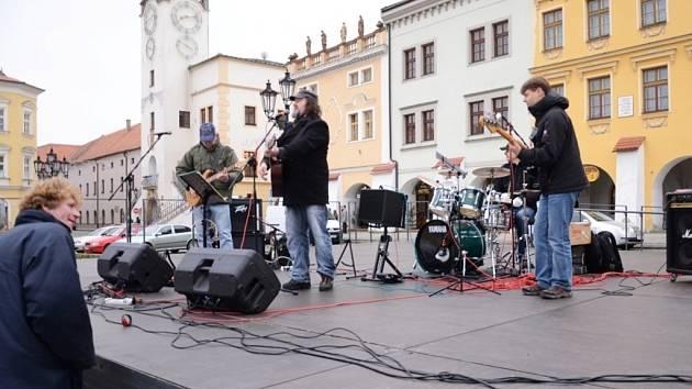 Vánoční jarmark se konal na Velkém náměstí v Kroměříži.