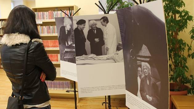 V Městské knihovně Hulín vystavují fotografie činnosti Olgy Havlové.