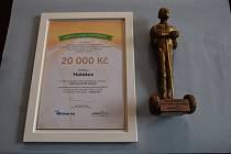Město Holešov obdrželo ocenění i odměnu.