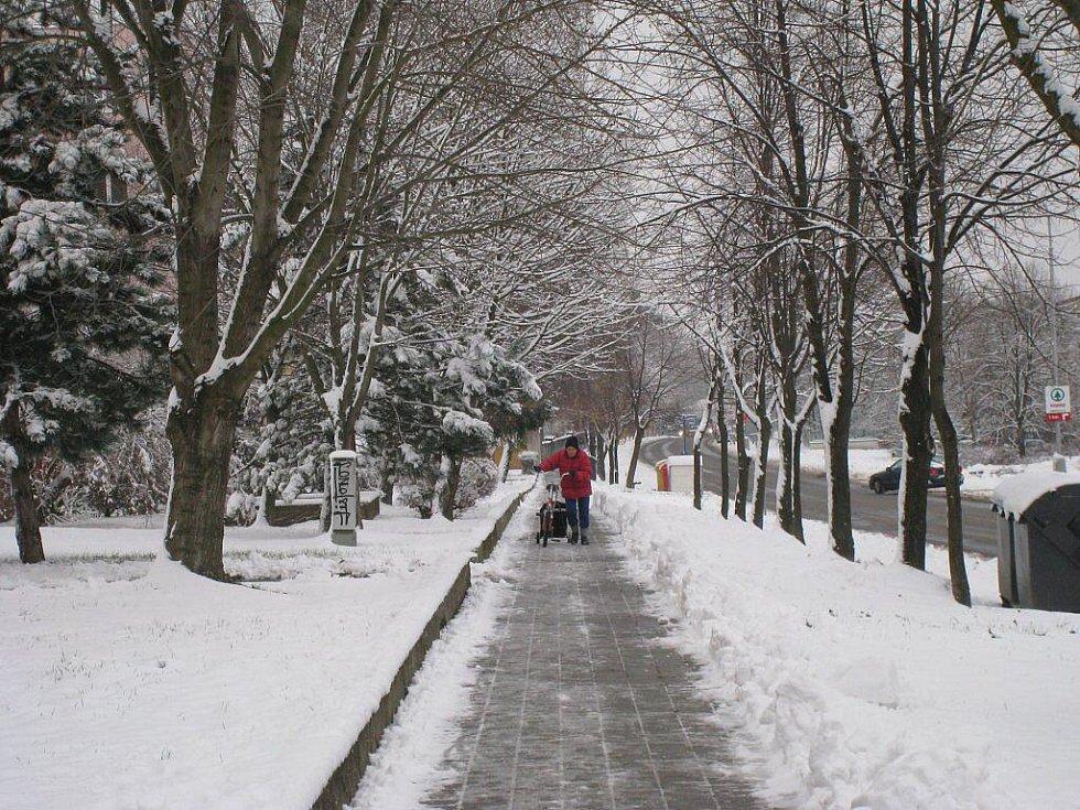Sníh v Kroměříži