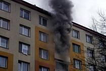 V Kroměříži hořel rozvod elektřiny v paneláku, dům raději evakuovali