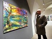 Výstava malíře Tomáše Měšťánka  Můj život v Česku v muzeu v Kroměříži