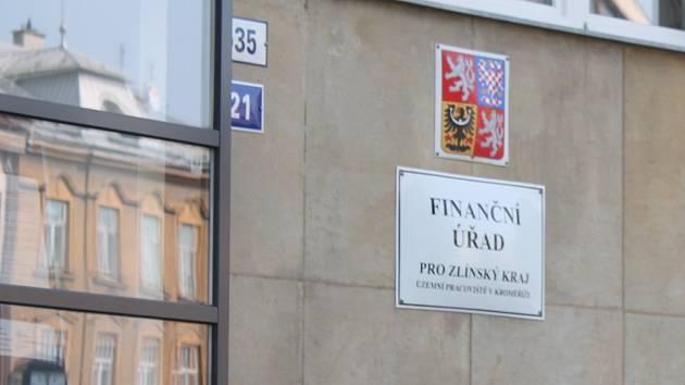 Finanční úřad v Kroměříži. Ilustrační foto.