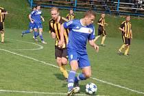 Fotbalisté Morkovic (v modrém). Ilustrační foto.
