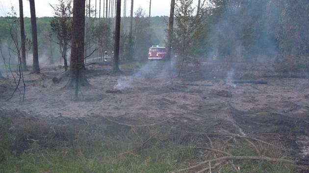 Požár lesa u Morkovic