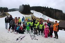 Děti z TYMY si užily lyžování a zimní zábavu.