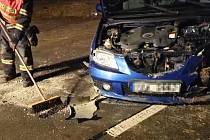 Nehoda v úterý 14. ledna nedaleko obce Dřínov