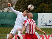 MFK Vyškov (bílé dresy) proti Spartaku Hulín