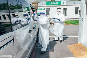 Testování na koronavirus v Kroměříži
