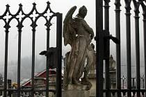 Barokní hřbitov ve Střílkách, začátek února 2021