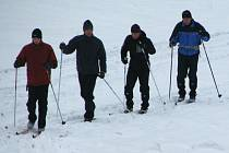 V Hostýnských vrších se proháněly skupiny běžkařů.