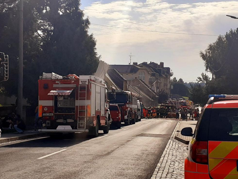 Zřejmě kvýbuchu plynu došlo ve středu po poledni vrodinném domě vKoryčanech na Kroměřížsku