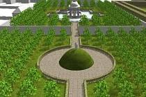 Obnova Květné zahrady už se blíží ke konci. Náhledy projektu: www.nczk.cz