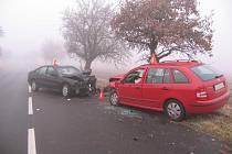 Řidič bourali nedaleko Zdounek, mezi Tesákem a Trojákem a také u Mrlínku.