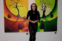 Zajímavou výstavu nabídne v rámci festivalu Dny umění nevidomých na Moravě 2018 od příští středy 2. 5. Knihovna Kroměřížska. Představí totiž prací zrakově postižené grafičky Markéty Evjákové (na snímku)