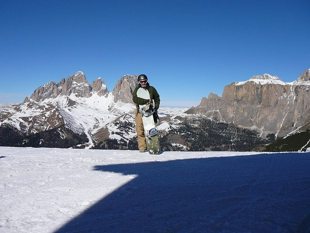 Instruktorka snowboardingu Alena Zicháčková.