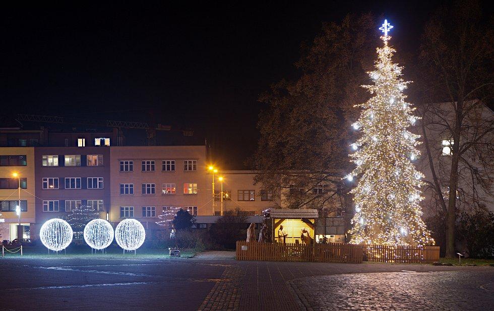 Vánoční strom 2020 ve Zlíně.