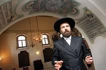 Studovna rabína Šacha v synagoze v Holešově.  Na snímku Vratislav Brázdil.