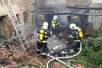 Požár domu ve Zborovicích – Medlově na Kroměřížsku