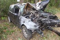 Dopravní nehoda u Libosvár na Kroměřížsku.
