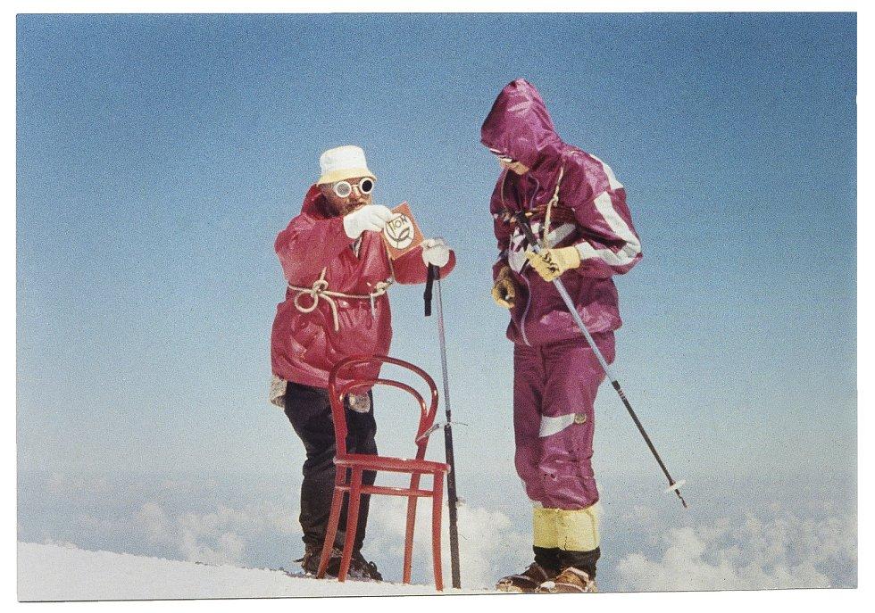 "Židle ""14"" na Mont Blancu v roce 1990."
