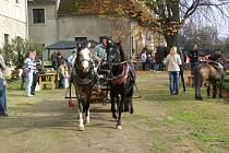 Perlou programu Hubertského dne v Litenčicích byla hubertská jízda, která na nádvoří zámku dorazila krátce po poledni.