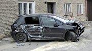 Nehoda peugeotu v Holešově - Žopech