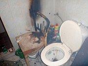 Při požáru v bytě v Břestu se zranil jeden člověk